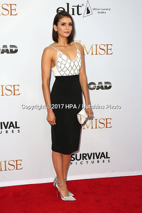 """LOS ANGELES - APR 12:  Nina Dobrev at the """"The Promise"""" Premiere at the TCL Chinese Theater IMAX on April 12, 2017 in Los Angeles, CA"""