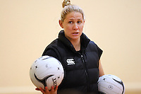 Silver Fern's Casey Kopua training for the New World Netball Series match, Wallacetown Stadium, Invercargill, New Zealand, Saturday, September 14, 2013. ©MBPHOTO/Dianne Manson Michael Bradley Photography