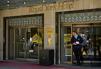 """Royal York hotel is seen in Downtown Toronto April 20, 2010. The Fairmont Royal York (usually referred to as the """"Royal York""""), formerly known as the Royal York Hotel, is a large and historic hotel in downtown Toronto, Ontario, Canada at 100 Front Street West."""