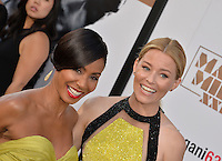 Elizabeth Banks &amp; Jada Pinkett Smith at the world premiere of their movie &quot;Magic Mike XXL&quot; at the TCL Chinese Theatre, Hollywood.<br /> June 25, 2015  Los Angeles, CA<br /> Picture: Paul Smith / Featureflash