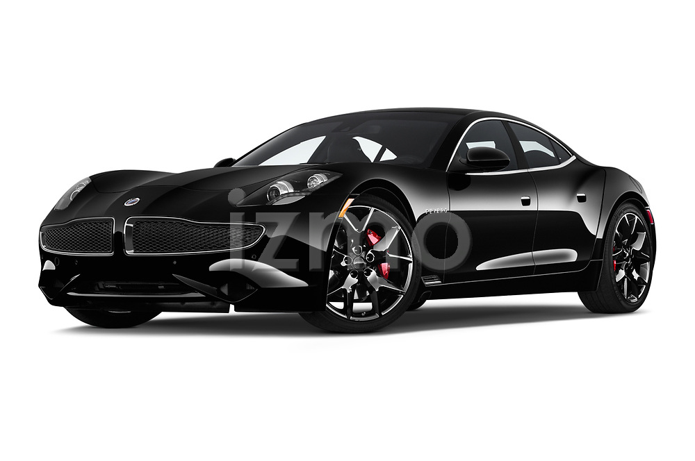 Stock pictures of low aggressive front three quarter view of 2018 Karma Revero - 4 Door Sedan Low Aggressive