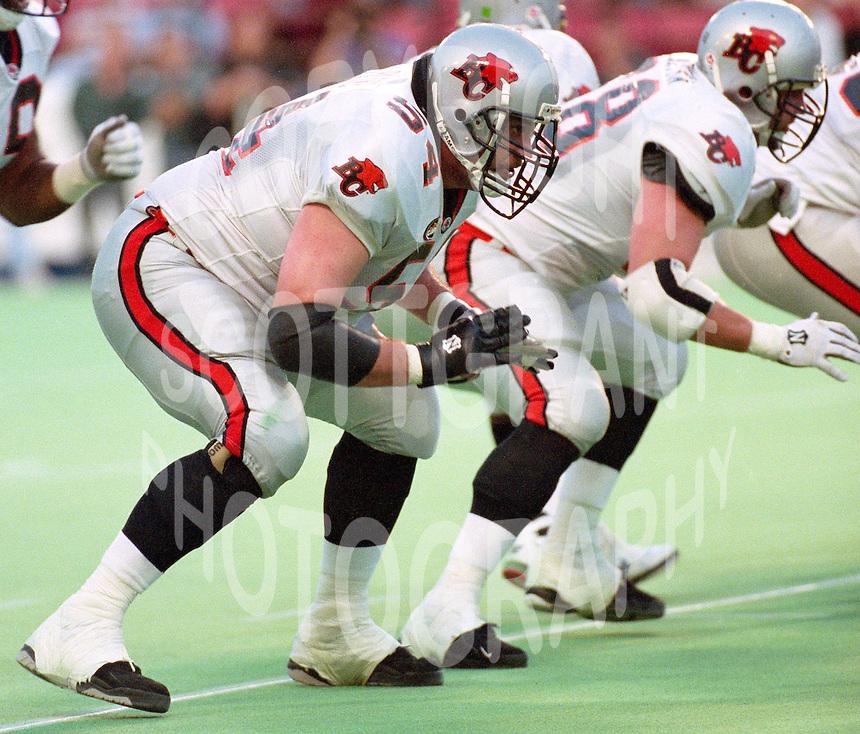 Daniel Payne BC Lions 1996. Photo Scott Grant
