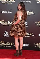 "04 April 2016 - Hollywood, California - Jillian Rose Reed. ""The Jungle Book"" Los Angeles Premiere held at the El Capitan Theatre. Photo Credit: Sammi/AdMedia"