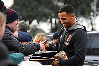 Callum Wilson of AFC Bournemouth signs an autograph during AFC Bournemouth vs Wigan Athletic, Emirates FA Cup Football at the Vitality Stadium on 6th January 2018