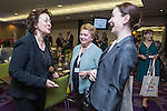 "BRUSSELS - BELGIUM - 23 November 2016 -- European Training Foundation (ETF) Conference on ""GETTING ORGANISED FOR BETTER QUALIFICATIONS"". -- Madlen Serban, Director ETF with Director Olga Oleynikova, Center for VET Studies (Russian Federation) and Tamar Sanikidze, Director of LEPL National Center for Education Quality Enhancement Ministry of Education and Science (Georgia). . -- PHOTO: Juha ROININEN / EUP-IMAGES"