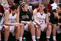 10 January 2008:  Morgan Clyburn, JJ Hones, Jeanette Pohlen and Cissy Pierce during Stanford's 81-45 win over Oregon State at Maples Pavilion in Stanford, CA.