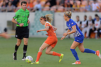 Houston, TX - Sunday Sept. 11, 2016: Morgan Brian, Kristie Mewis during a regular season National Women's Soccer League (NWSL) match between the Houston Dash and the Boston Breakers at BBVA Compass Stadium.