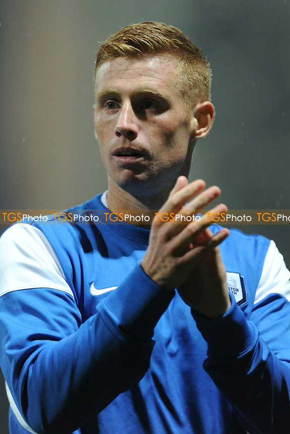 Goalscorer Eoin Doyle of Preston North End applauds the fans at the end of the match during Preston North End vs Nottingham Forest, Sky Bet Championship Football at Deepdale, Preston, England on 03/11/2015