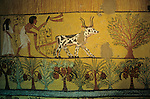 Egypt's Valley of the Kings, Farming scene, Tomb of Sennudjem, Dier El Medina, Luxor, New Kingdom, Egypt