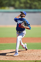 Los Angeles Dodgers pitcher Joel Toribio (89) during an Instructional League game against the Cleveland Indians on October 10, 2016 at the Camelback Ranch Complex in Glendale, Arizona.  (Mike Janes/Four Seam Images)