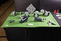 Origami designed and folded by Marc Kirschenbaum at the OrigamiUSA 2013 Convention exhibition in New York.