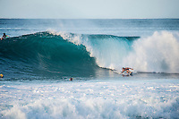 Off The Wall-Backdoor,  OAHU - HAWAII, USA: (Friday, December 10, 2015): Brett Dorrington (AUS) The The swell was in the 4'-6' range today with variable winds and passing showers. There were sessions at Off The wall and Backdoor once the contest finished <br />  Photo: joliphotos.com