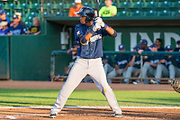 Jonathan Oquendo (3) of the Helena Brewers at bat against the Ogden Raptors in Pioneer League action at Lindquist Field on August 17, 2015 in Ogden, Utah.  Ogden defeated Helena 7-2.  (Stephen Smith/Four Seam Images)