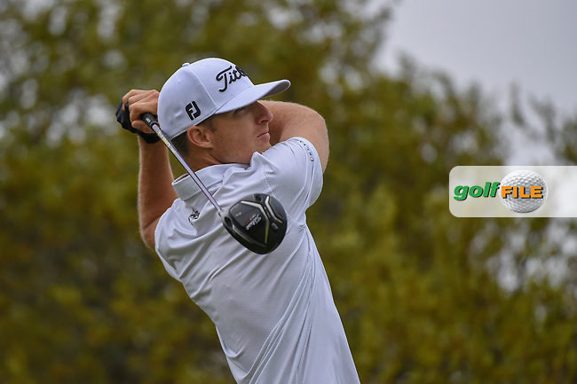 Morgan Hoffman (USA) watches his tee shot on 10 during day 3 of the Valero Texas Open, at the TPC San Antonio Oaks Course, San Antonio, Texas, USA. 4/6/2019.<br /> Picture: Golffile | Ken Murray<br /> <br /> <br /> All photo usage must carry mandatory copyright credit (© Golffile | Ken Murray)