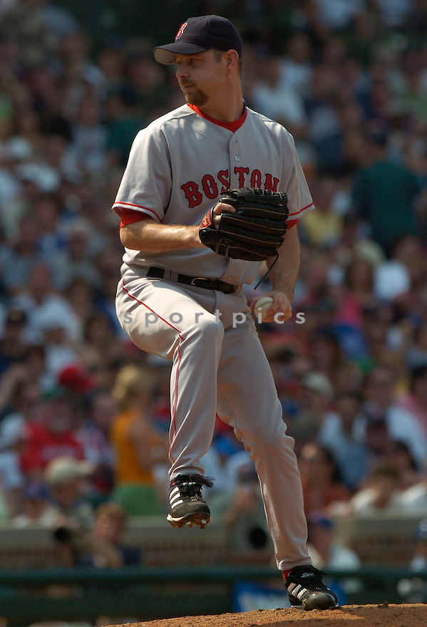 Alan Embree, of the Boston Red Sox, in action against the Chicago Cubs  , on June 10, 2005...Cubs win 14-6...David Durochiki / SportPics