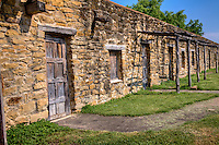 Living quaters for the residents surrounded the outer perimeter at Mission San Hose at the San Antonio Missions National Historic Park.