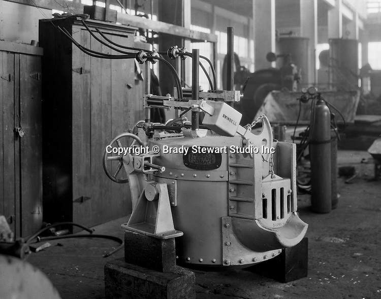Pittsburgh PA:  On location photography for the Swindell Company.  The new Swindell Electric Melting Furnace - 1930