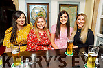 Samera McGrath, Kelly Harte, Orla Keane and Aisling Flynn enjoying the evening in the Brogue Inn  on Saturday