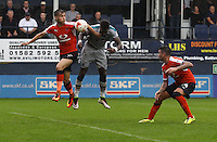 Omar Bogle of Grimsby Town scores his second goal during the Sky Bet League 2 match between Luton Town and Grimsby Town at Kenilworth Road, Luton, England on 10 September 2016. Photo by Harry Hubbard / PRiME Media Images.