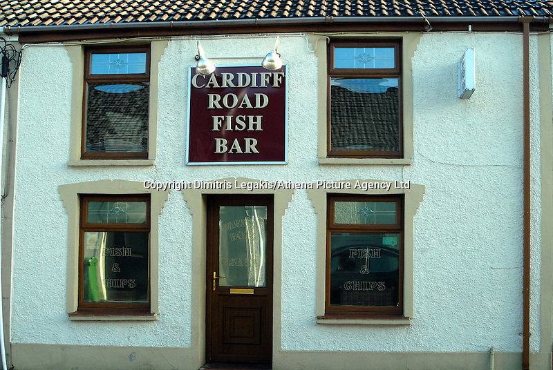 COPY BY TOM BEDFORD MEDIA<br /> Pictured: Cardiff Road Fish Bar, one of the take aways near the new house of Georgia Davis.<br /> Re: Britain's fattest woman has had a house specially built for her - within half a mile of 13 takeaway restaurants.<br /> Sixty-stone Georgia Davis, 22, was given the £150,000 property because she no longer fits in her own home.<br /> It has a double front door and all internal corridors and rooms have been specially designed to accommodate her size. <br /> Georgia is nicknamed the Takeaway Princess by friends because she lives on pizzas, kebabs and chips.<br /> But she has been rehomed in the middle of a glut of restaurants waiting to deliver her favourite food.