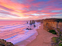 The Twelve Apostles is a collection of limestone stacks off the shore of the Port Campbell National Park, by the Great Ocean Road in Victoria, Australia. Surprisingly this is a free attraction.