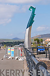 The sculpture erected at the Marina in Dingle...