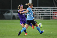 Piscataway, NJ - Wednesday Sept. 07, 2016: Josee Belanger, Leah Galton during a regular season National Women's Soccer League (NWSL) match between Sky Blue FC and the Orlando Pride FC at Yurcak Field.