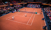 Den Bosch, The Netherlands, Februari 10, 2019,  Maaspoort , FedCup  Netherlands - Canada, doubles match Sunday : Overall vieuw <br /> Photo: Tennisimages/Henk Koster