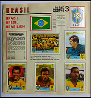 Panini sticker album from the 1970 World Cup.