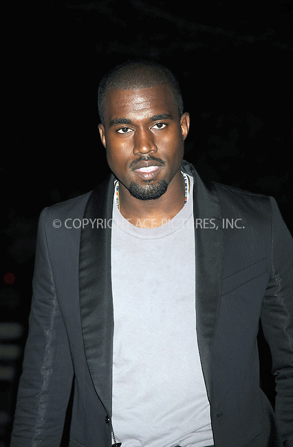 WWW.ACEPIXS.COM . . . . . ....April 21 2009, New York City....Rapper Kanye West arriving at the Vanity Fair party for the 2009 Tribeca Film Festival at the State Supreme Courthouse on April 21, 2009 in New York City.....Please byline: KRISTIN CALLAHAN - ACEPIXS.COM.. . . . . . ..Ace Pictures, Inc:  ..tel: (212) 243 8787 or (646) 769 0430..e-mail: info@acepixs.com..web: http://www.acepixs.com