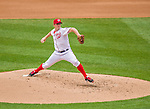 4 April 2014: Washington Nationals pitcher Jordan Zimmermann on the mound against the Atlanta Braves during the Nationals Home Opening Game at Nationals Park in Washington, DC. The Braves edged out the Nationals 2-1 in their first meeting of the 2014 MLB season. Mandatory Credit: Ed Wolfstein Photo *** RAW (NEF) Image File Available ***