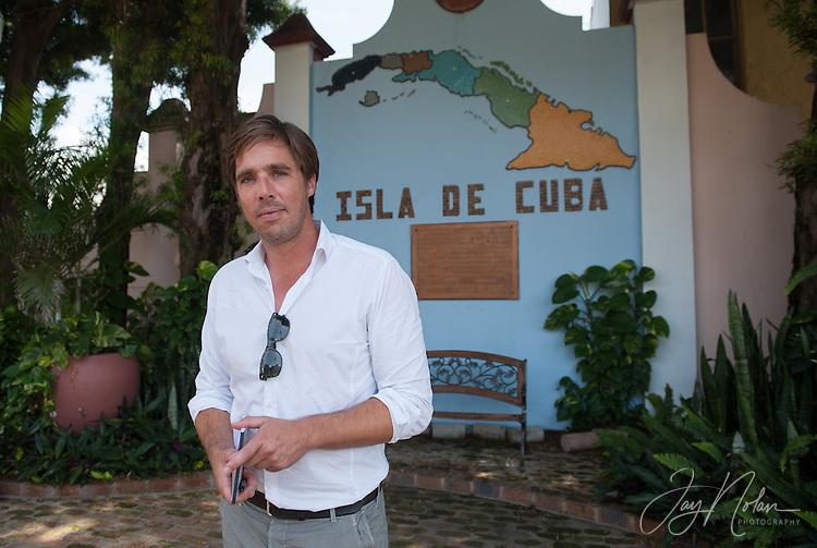 Reporter Markus Feldenkirchen in a small park made using soil from Cuba. Photo/Jay Nolan