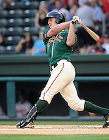 Infielder Mark Canha (31) of the Greensboro Grasshoppers, Class A affiliate of the Florida Marlins, in a game against the Greenville Drive on April 25, 2011, at Fluor Field at the West End in Greenville, S.C. Photo by Tom Priddy / Four Seam Images