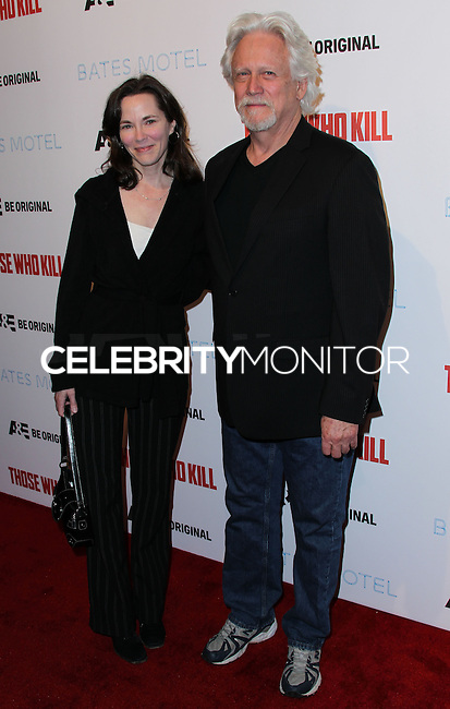 "HOLLYWOOD, LOS ANGELES, CA, USA - FEBRUARY 26: Michele Davison, Bruce Davison at the Premiere Party For A&E's Season 2 Of ""Bates Motel"" & Series Premiere Of ""Those Who Kill"" held at Warwick on February 26, 2014 in Hollywood, Los Angeles, California, United States. (Photo by Xavier Collin/Celebrity Monitor)"