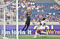 Orlando, FL - Saturday Sept. 24, 2016: Ashlyn Harris, Shea Groom, Tiffany McCarty during a regular season National Women's Soccer League (NWSL) match between the Orlando Pride and FC Kansas City at Camping World Stadium.