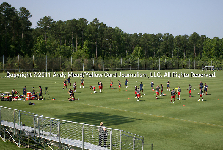 30 May 2011: The United States Men's National Team held a training session at Koka Booth Stadium in WakeMed Soccer Park in Cary, North Carolina as part of their preparations for the 2011 CONCACAF Gold Cup.