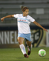 Casey Nogueira #27 of the Chicago Red Stars during a WPS match against the Washington Freedom at the Maryland Soccerplex, in Boyds Maryland on June 12 2010.The game ended in a 2-2 tie.