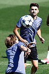 Real Madrid's Luka Modric (l) and Enzo Zidane during training session. May 9,2017.(ALTERPHOTOS/Acero)
