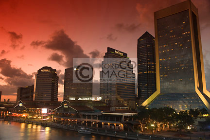 JACKSONVILLE LANDING NORTH BANK WATERFRONT SAINT JOHNS RIVER JACKSONVILLE FLORIDA USA