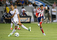 CARSON, CA - May 19, 2012: Chivas USA defender Walter Vilchez (4) during the Chivas USA vs Real Salt Lake match at the Home Depot Center in Carson, California. Final score, Chivas USA 1, Real Salt Lake 4.