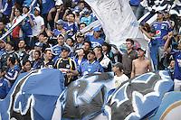 BOGOTÁ -COLOMBIA, 03-11-2013. Aspecto de los fans de Millonarios durante ell encuentro entre Millonarios y Deportes Tolima por la fecha 17 de la Liga Postobón  II 2013 jugado en el estadio Nemesio Camacho el Campín de la ciudad de Bogotá./ Aspect of the fans of Millonarios during the match between Millonarios and Deportes Tolima for the 17th date of the Postobon  League II 2013 played at Nemesio Camacho El Campin stadium in Bogotá city. Photo: VizzorImage/Gabriel Aponte/STR