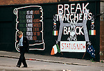 Ireland The Troubles. Belfast 1980s. Catholic mural wall apinting.