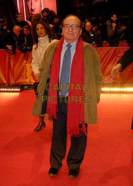 "SIDNEY LUMET.Premiere of ""Find Me Guilty"" at the 56th Berlin International Film Festival (Berlinale) in Berlin, Germany..February 16, 2006 .Ref: KRA.full length red scarf green coat.www.capitalpictures.com.sales@capitalpictures.com.©Capital Pictures"