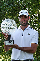 Robin Roussel (FRA) poses with the trophy after the final round of the Hauts de France-Pas de Calais Golf Open, Aa Saint-Omer GC, Saint- Omer, France. 16/06/2019<br /> Picture: Golffile | Phil Inglis<br /> <br /> <br /> All photo usage must carry mandatory copyright credit (© Golffile | Phil Inglis)