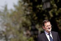 l Primo Ministro spagnolo Mariano Rajoy arriva a Villa Pamphilj, Roma, 21 settembre 2012..Spain's Prime Minister Mariano Rajoy arrives at Villa Pamphilj, Rome, 21 September 2012..UPDATE IMAGES PRESS/Riccardo De Luca