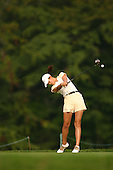 August 20, 2004; Dublin, OH, USA;  14 year old amateur Michelle Wie tees off at the 7th hole during the 2nd round of the Wendy's Championship for Children golf tournament held at Tartan Fields Golf Club.  <br />Mandatory Credit: Photo by Darrell Miho <br />&copy; Copyright Darrell Miho