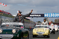 MELBOURNE, 17 MARCH - Nico Hulkenberg in the drivers' parade ahead of the 2013 Formula One Rolex Australian Grand Prix at the Albert Park Circuit in Melbourne, Australia. Photo Sydney Low/syd-low.com