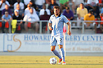 24 August 2013: Minnesota's Justin Davis. The Carolina RailHawks played the Minnesota United FC Loons at WakeMed Stadium in Cary, NC in a 2013 North American Soccer League Fall Season game. Carolina won 1-0.