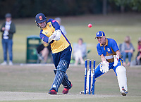 Sam Cook of Essex pulls square of the wicket during Upminster CC vs Essex CCC, Benefit Match Cricket at Upminster Park on 8th September 2019