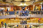 Star Princess cruise ship. Central lobby interior.